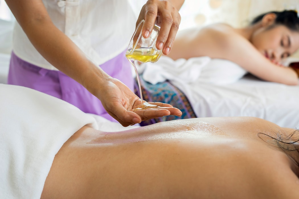 Sensual massages with the right candles and oil can bring pleasure and calmness.